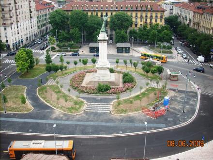 Milano piazza Risorgimento Nord